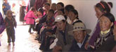 tibetan villagers and nomads wait for medical care